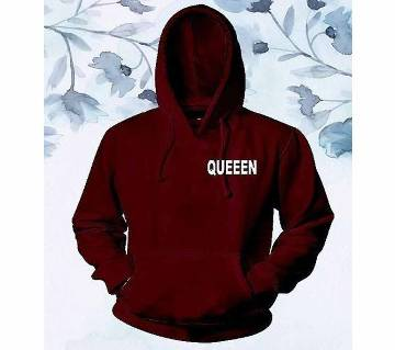 Womens Stylish Hoodie  Maroon  Queen  FAS