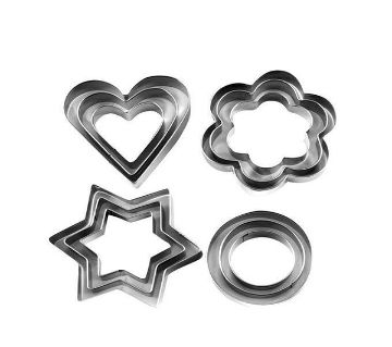Stainless Steel Cookie Cutter 12 Pieces