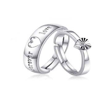 Couple Silver Allow Finger Ring