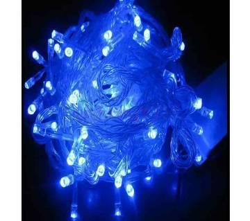 Fairy Decorative Light 100 Led- Blue, Weeding Festival Party 33 Feets waterproof Led Light.