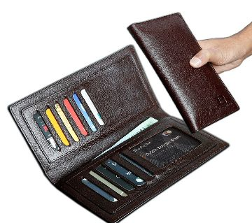 100% Genuine Leather Premium Long Wallet