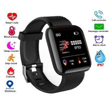 116 Plus Smart watch Bracelets Fitness Tracker Heart Rate Step – GNG