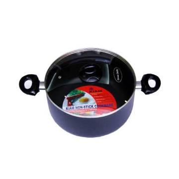 Kiam Non-stick Saucepan Cooking pot 32cm with Glass lid