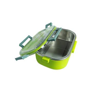 Single Layer Air-tight Lunch Box - Green