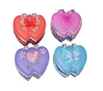 Heart Shape Glass Jewelry Box With Mirror (Small Size 42.52 Inches)-1pcs