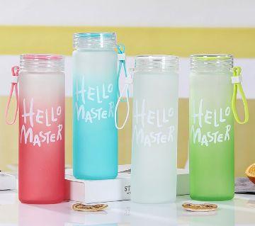 Hello Master Glass Water Bottle 480ml