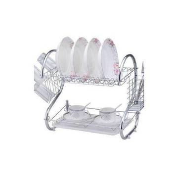 2 Layer Dish Drainer - Silver