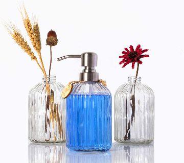 Hand wash liquate storage Glass Jar ( 350ml Capacity ) - 1 Pcs