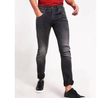 Black Menz Fit Jeans Pant