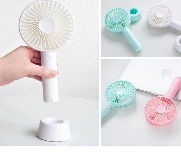Rechargeable USB Mini Electric Handheld Portable Fan With Stand Holder-1Pc