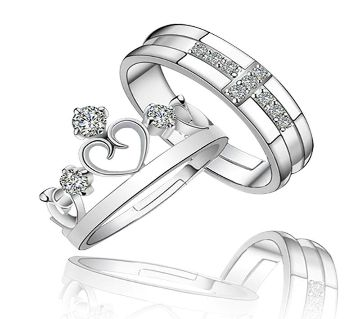 King - Queen Valentine Couple Finger Ring