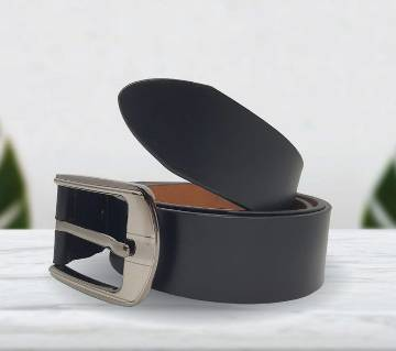 Casual Leather Belt Matte Black