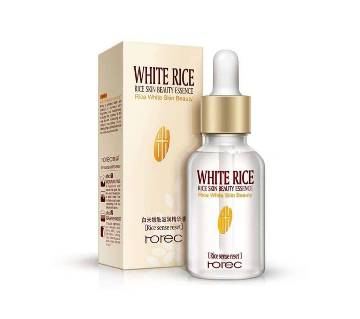 ROREC White Rice skin beauty essence whitening pore shrink serum- 15 ml- Thailand
