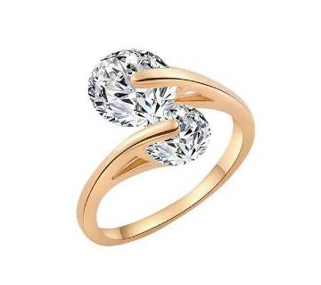 Gold Plated Twin Zircon Finger ring