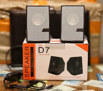 D7 - Multimedia Speaker Mini USB Port Support Computer / laptop / Mobile / TV Card/TV
