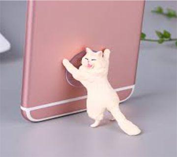 Cute Cat Support Resin Mobile Phone Holder Stand Sucker Smartphone Holder