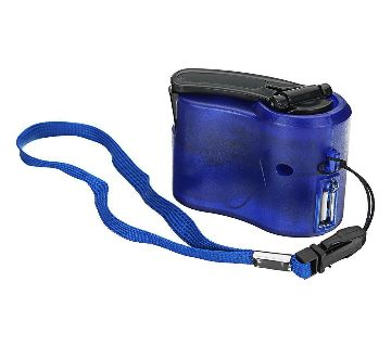 Usb Hand Crank Power Generator Emergency Digital Display Phone Charger Manual Shake Charger Blue