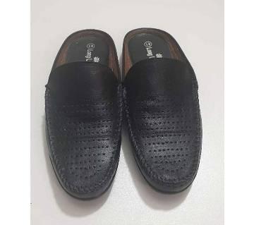 Hand Made Half Shoe for Men Black