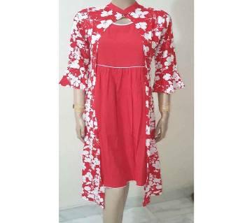 red lilen fashinable kuri-Red