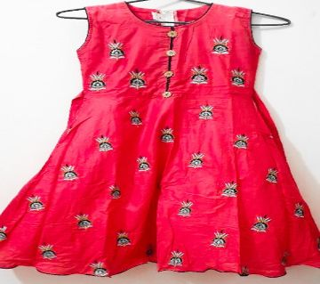 cotton Embroidery Kurti for girls