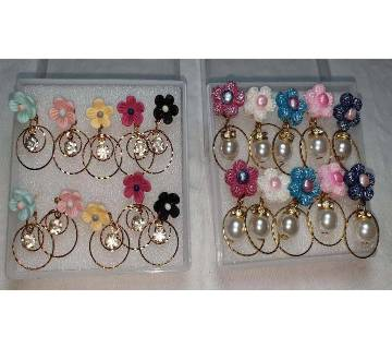 ladies colored earings-2 Pair