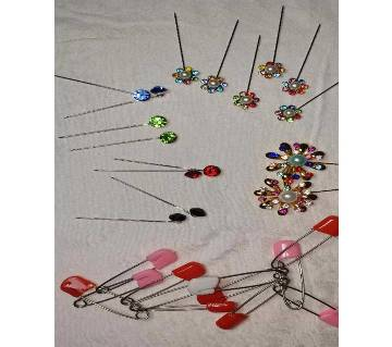 plastic covered Safety pin and Hijab pin-12pcs