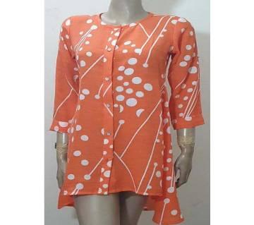 orange cotton short kurti