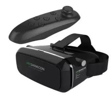 3D Virtual Reality Glasses With Bluetooth Remote Controller