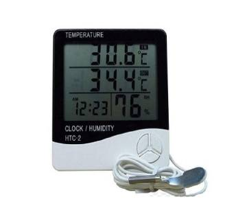 HTC-2 Digital Indoor/Outdoor Thermo-hygrometer Temperature Humidity Meter with Time/Clock Home & Industrial Room Temperature