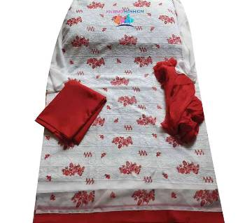 Unstitched Georgette 4Pcs-White