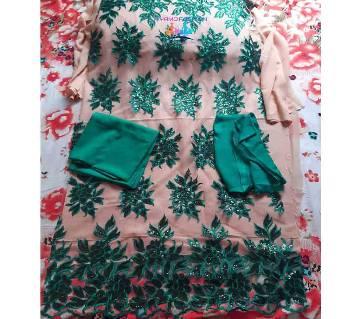 Unstitched Georgette 4Pcs Green