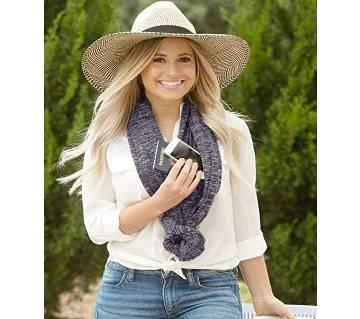 Convertible Infinity Scarf With Pocket Loop Scarf Women Winter Zipper Pocket