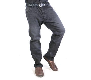 Black Denim Jeans Pant for Mens-Semi stretch/casual