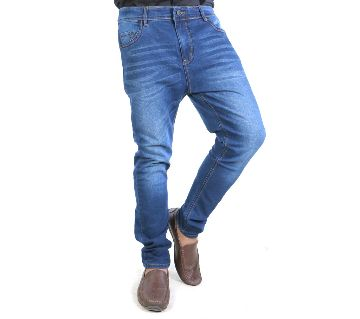 Blue Denim Jeans Pant for Mens-Semi stretch/casual