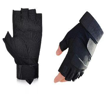 MT Tactical Gloves for BIKING Half Finger -Black