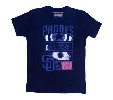 Avengers Half Sleeve T Shirt For Men-Navi Blue