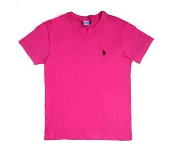 Solid Color Half Sleeve T Shirt For Men