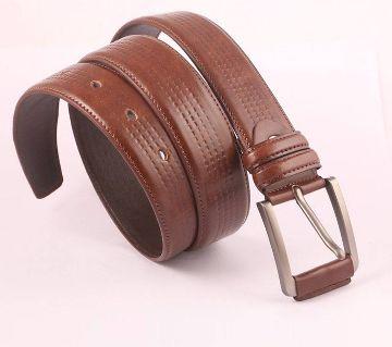 Brown PU Leather Belt for Men