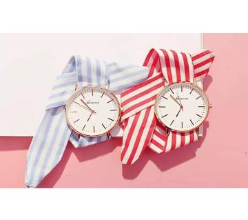 Fashion Cloth with striped strap watch Combo Offer
