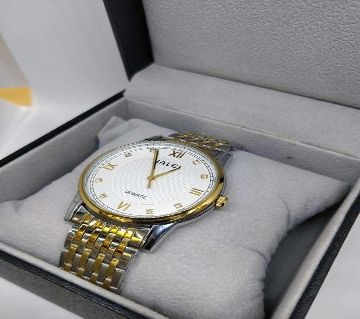 Luxury Stainless Steel Analog Watch for Men