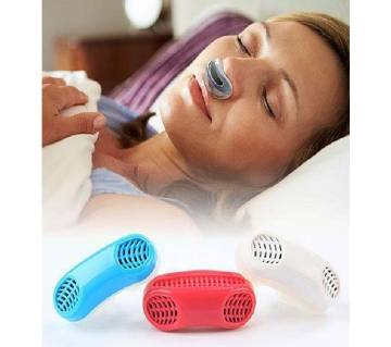 2 In 1 Anti Snoring and Air Purifier Silicone Snore Nose Clip Vents-1pcs