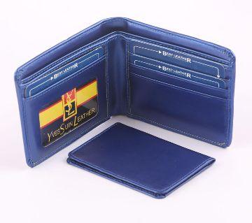 Sky Blue Artificial Leather Wallet For Men
