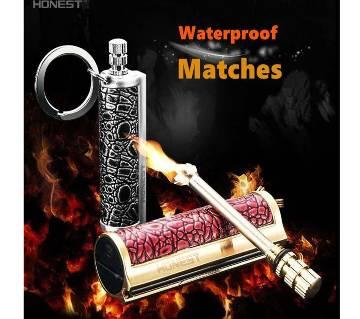 Honest Million Matches Match Ferosene/Fuel Lighter Keychain Waterproof Flint Firewood