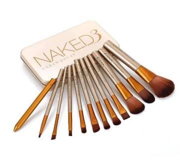 Makeup Brushes - 12 Pcs Original Metallic Case