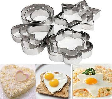 Cookie and Egg Mold- Silver