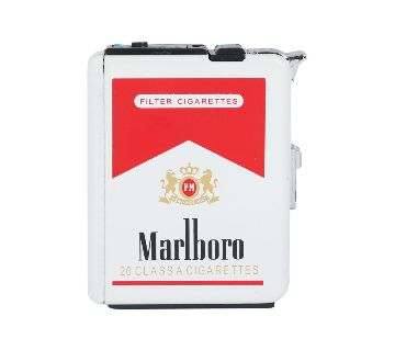 Fashionable Cigarette Case with Refillable Lighter
