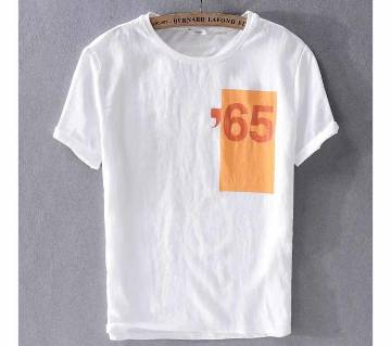 Half Sleeve T-Shirt For Men - White