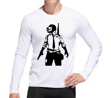 PubG Menz Winter Full Sleeve Sweat T-shirt - White