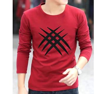 Wolverine Claw Menz Winter Full Sleeve Sweat T-shirt - Red