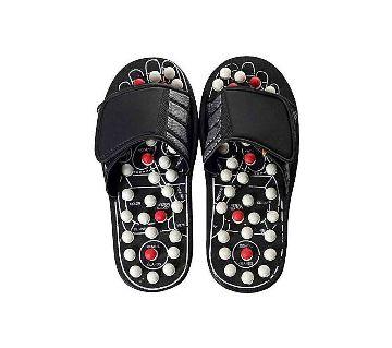 Black Foot Massage Slippers